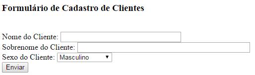 Formulário Cadastro - MySQL e PHP
