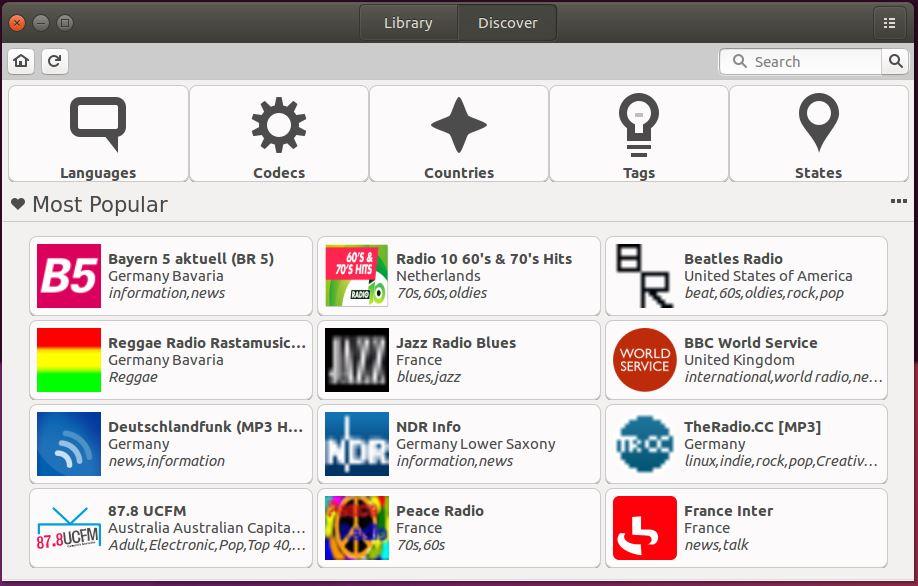 Descobrindo estações de rádio no gradio no Ubuntu Linux