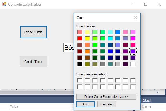 Classe ColorDialog - Alterando cores no C#