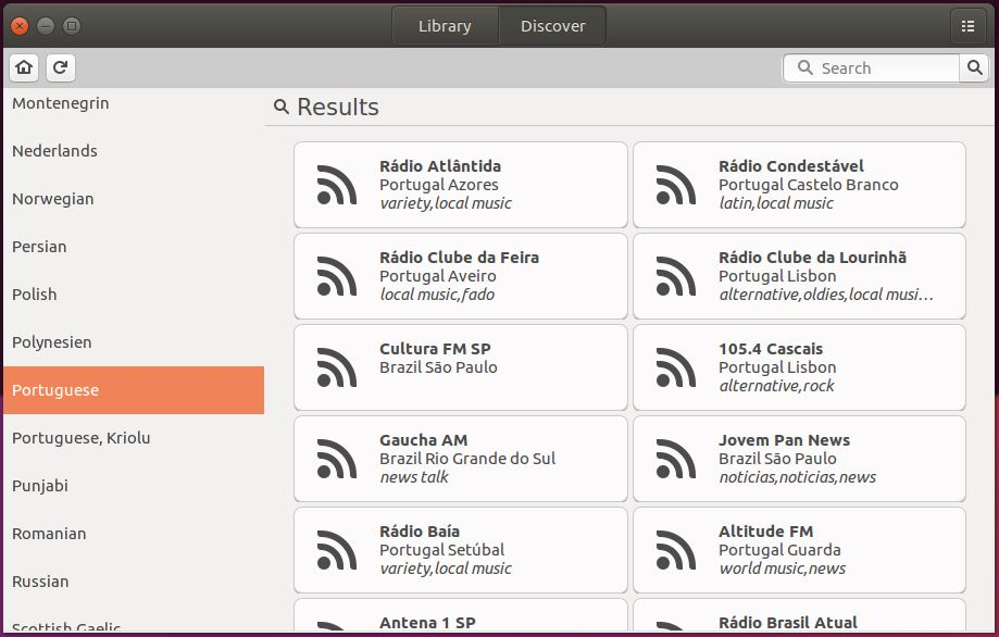 Filtrando rádios por idioma no gradio - Linux Mint