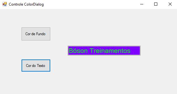 Alterando cores com controle ColorDialog no Microsoft C#