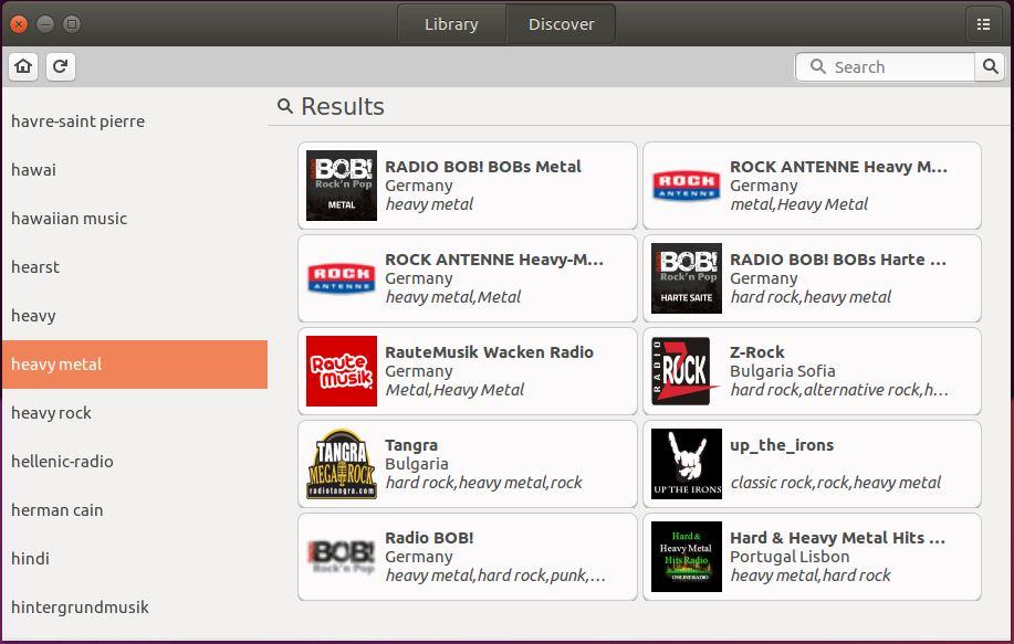 Filtrando estações de rádio por gênero musical no gradio - Linux Ubuntu