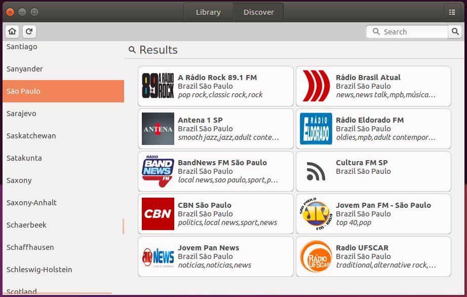 Filtrando estações de rádio por estado no gradio - Linux Ubuntu