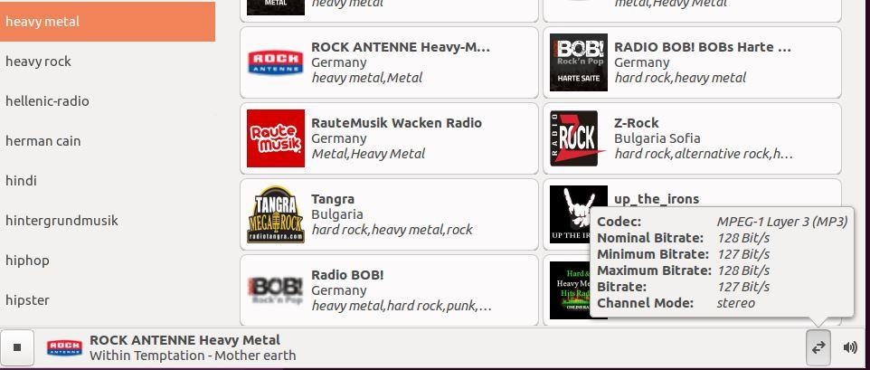 Tocando Heavy Metal em uma rádio online com gradio no Ubuntu Linux