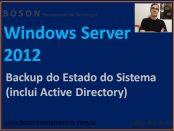 Backup do Estado do Sistema - Windows Server 2012 R2