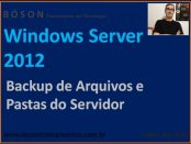 Backup de Arquivos e Pastas no Windows Server 2012 R2