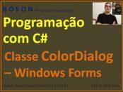 Classe ColorDialog - C# Programação com Windows Forms