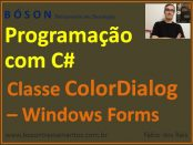 Classe ColorDialog - C# Programação com Windows Forms