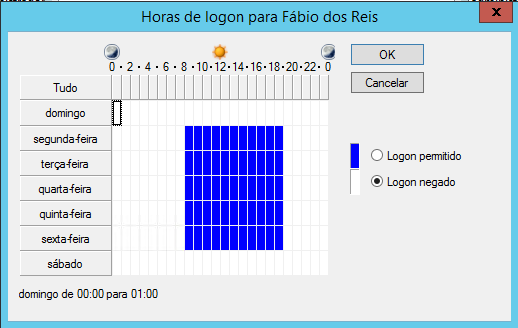 Horário de Logon no Windows Server 2012 ADDS
