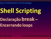 Declaração break - encerrando loops em shell script