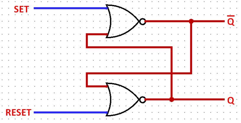 Latch SR com portas NOR - Eletrônica