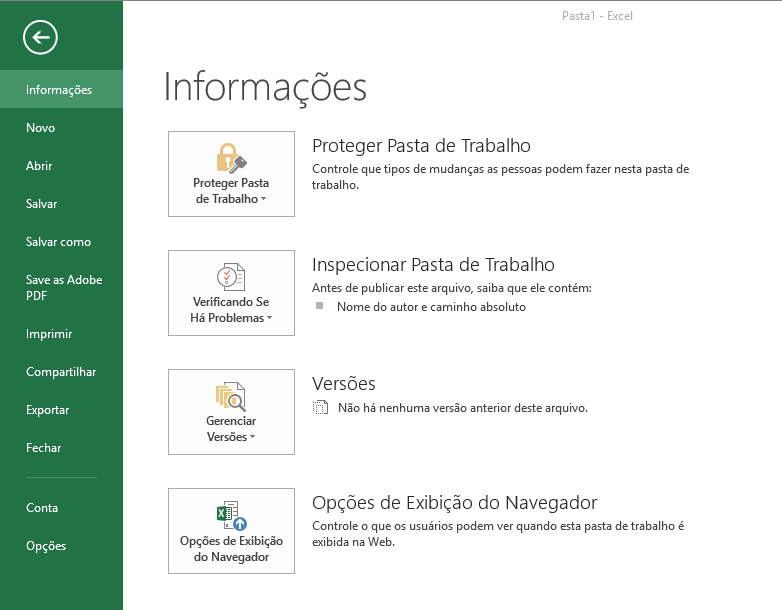 Protegendo documento do Microsoft Excel com senha