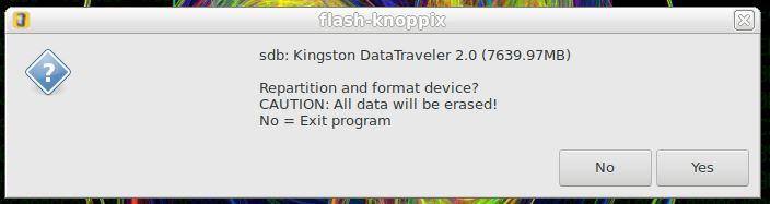 Particionar e formatar pendrive para Linux KNOPPIX