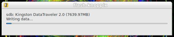Gravando dados do Linux KNOPPIX em um pendrive de boot