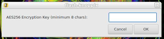 Senha para acesso em partição persistente no KNOPPIX Linux