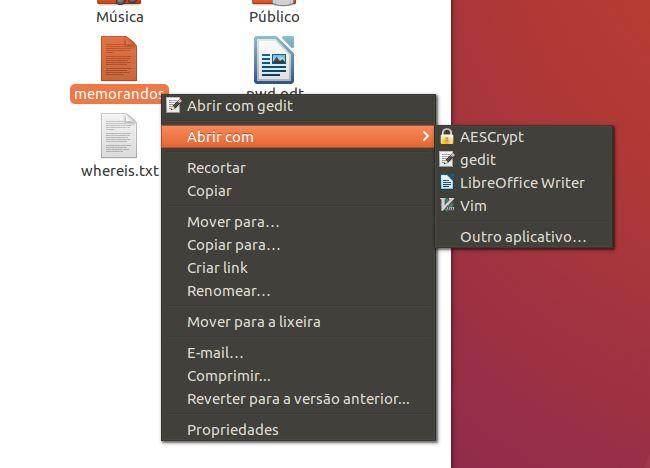 Criptografia com AESCrypt na interface gráfica do Ubuntu Linux