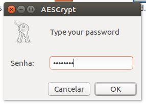 AESCrypt - criptografando arquivos na interface gráfica do Linux Ubuntu