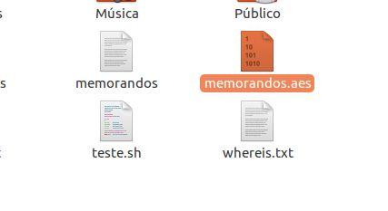 Arquivo criptografado com AESCrypt no Linux