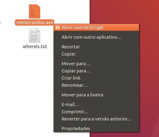 Decriptando arquivos criptografados com AESCrypt no Ubuntu Linux