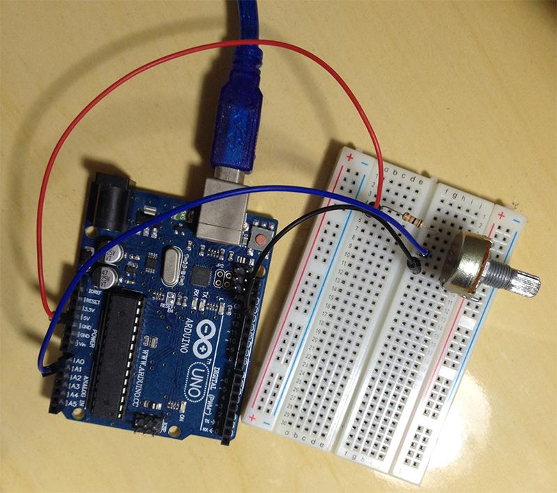 Arduino com potenciômetro