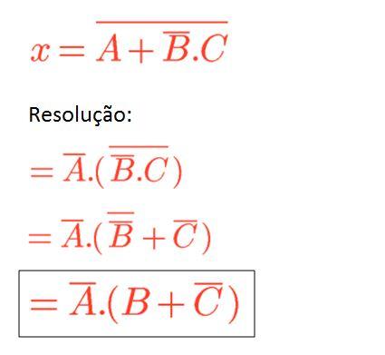 Teorema de De Morgan - Exercício 01