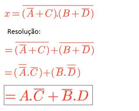 Teoremas de De Morgan - Exercício 02