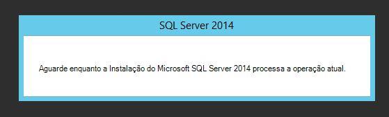 Instalação do SQL Server 2014