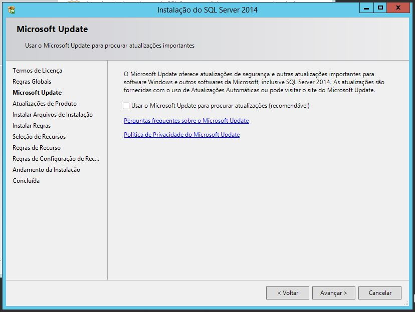 Microsoft Update SQL Server 2014
