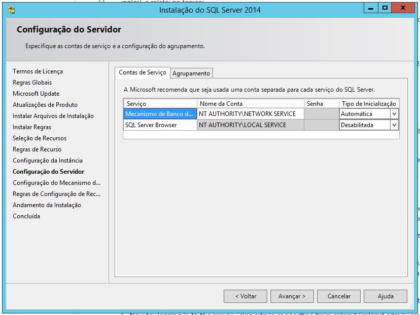 Configurando Servidor SQL Server 2014