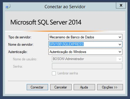 Conectando ao SQL Server Management Studio
