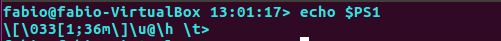 Prompt com variável PS1 no Ubuntu Linux