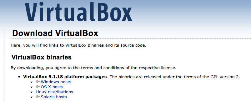 Instalação do VirtualBox no Mac OS X El Capitan