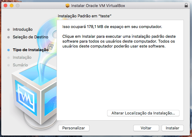 Como instalar o VirtualBox no Mac OS X El Capitan