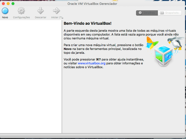 Como instalar o Oracle VirtualBox VM no Mac OS X Sierra