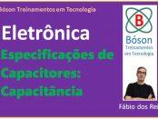 Especificação dos capacitores - capacitância