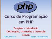 Declaração de funções em PHP