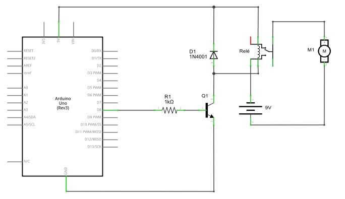 Acionar motor DC com Arduino e Relé
