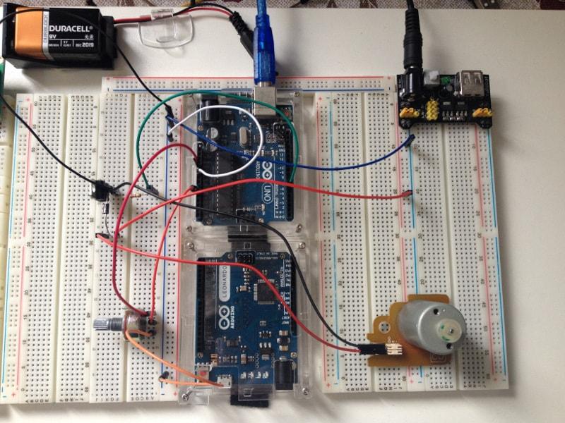 Controle de velocidade de motor DC com arduino e transistor