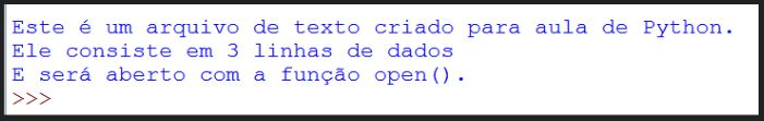 Ler arquivos em Python usando método open e rstrip