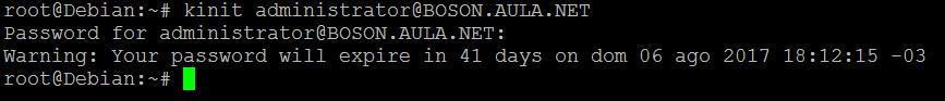 Arquivo KInit no SAMBA 4 no Linux