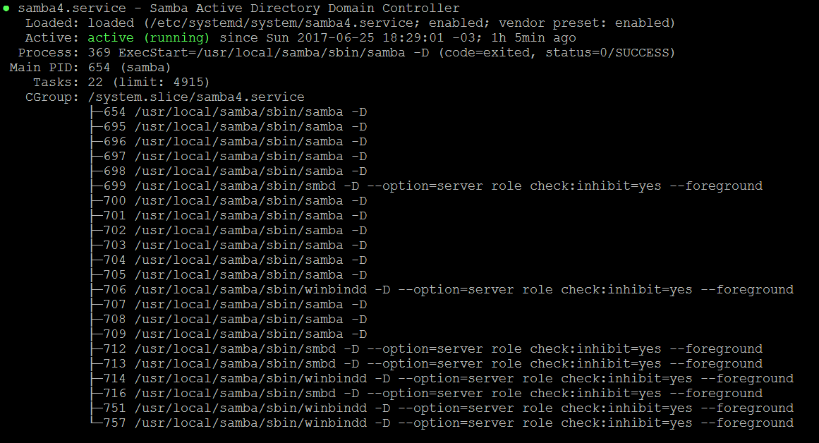 Serviço do SAMBA rodando no Linux