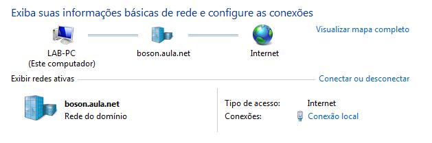 Windows logado no domínio do SAMBA