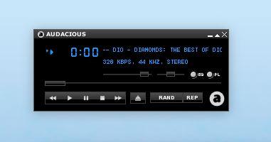 Tocador de música Audacious no Linux Fedora