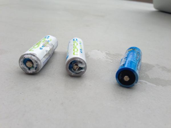 Baterias alcalinas vazando