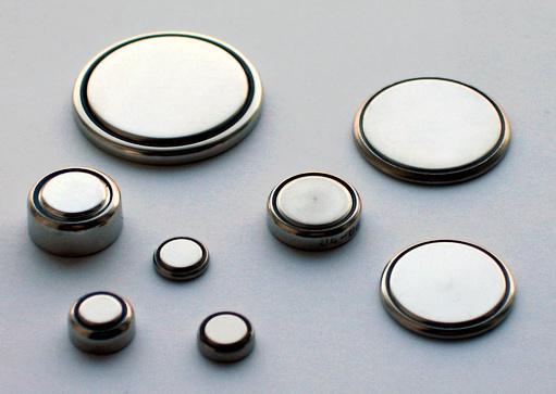 Baterias de botão em diversos tamanhos