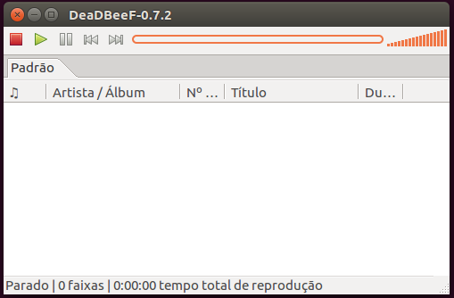 Player de áudio deadbeef no Ubuntu Linux
