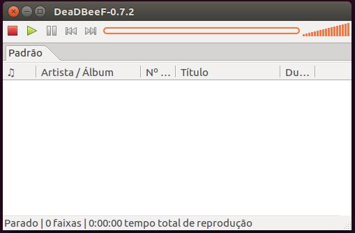 Player de áudio deadbeef no Ubuntu Linux