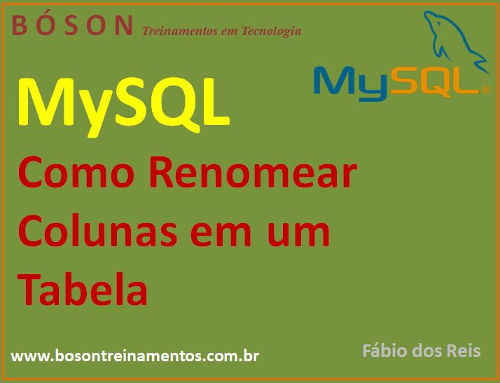 Como renomear colunas em uma tabela no MySQL com comandos SQL