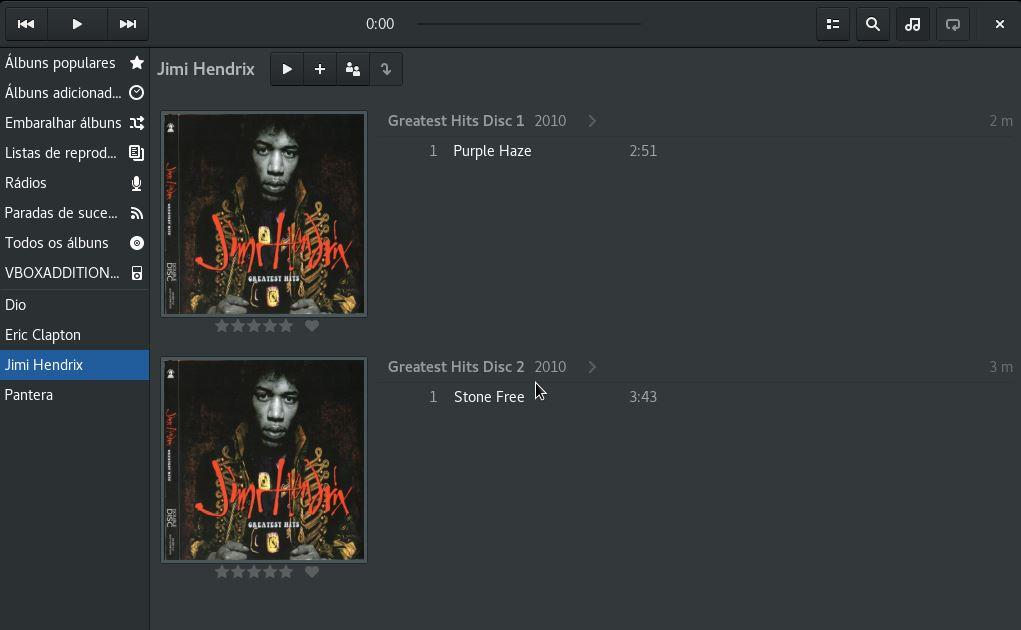 Tocador de música Lollypop no Linux Fedora