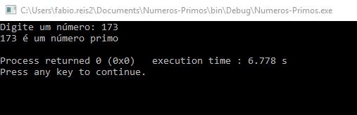 Calculando números primos em linguagem C